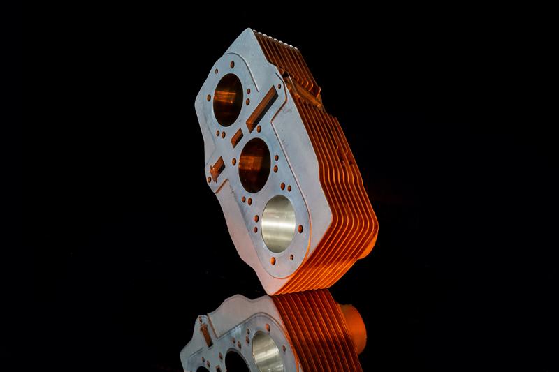 Nikasil coated cylinderblock